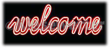"Neon-Leuchtdisplay ""Welcome"""