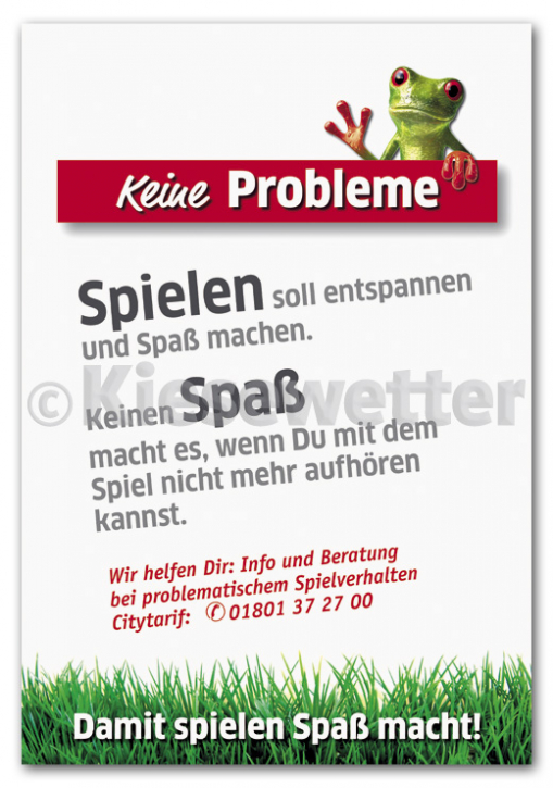 "Hinweis - Poster ""Keine Probleme"", DIN A2"