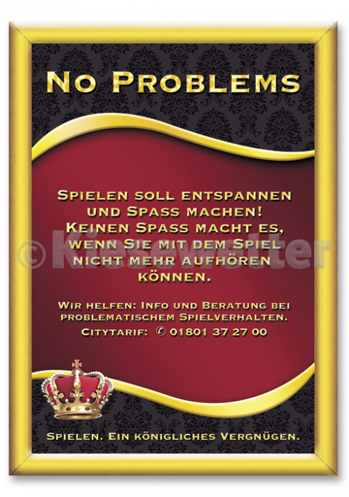"Casino Style Poster ""No problems"""