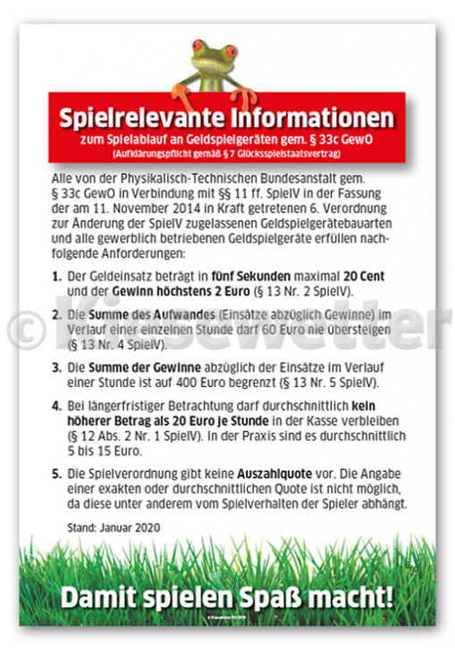 Spielrelevante Informationen Poster