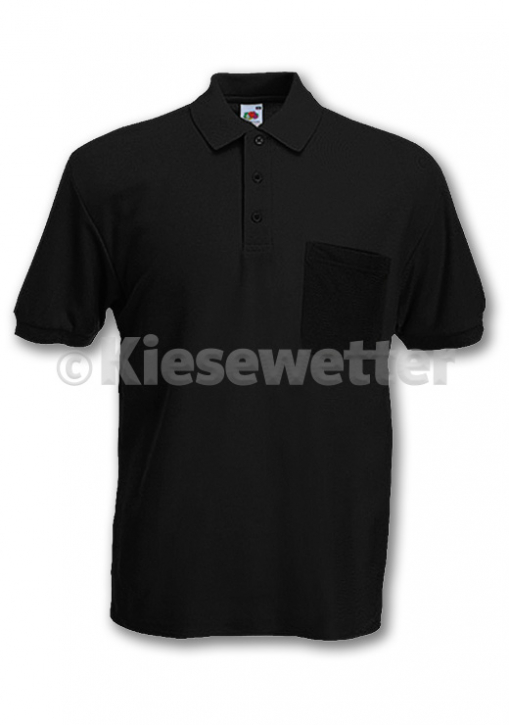 Polo-Shirt Gr. M Black Brusttasche (Artnr. 16141)