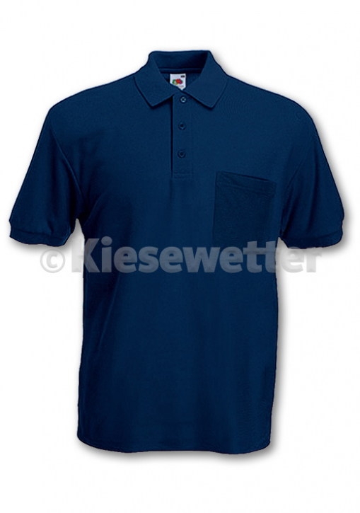 Polo-Shirt Gr. M Navy Brusttasche (Artnr. 16142)