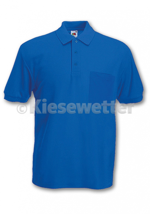 Polo-Shirt Gr. XL Royal Brusttasche