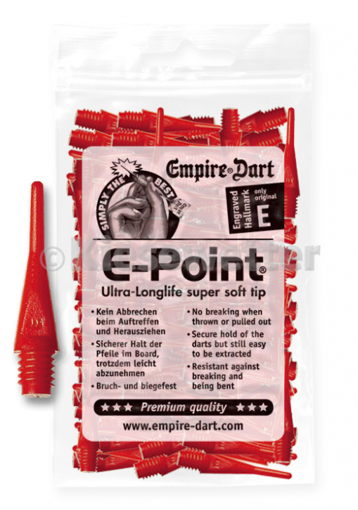 E-Point-Spitzen kurz 2BA Rot (Artnr. 20685)