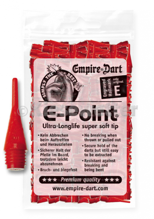"E-Point-Spitzen kurz 1/4"" Rot (Artnr. 20832)"