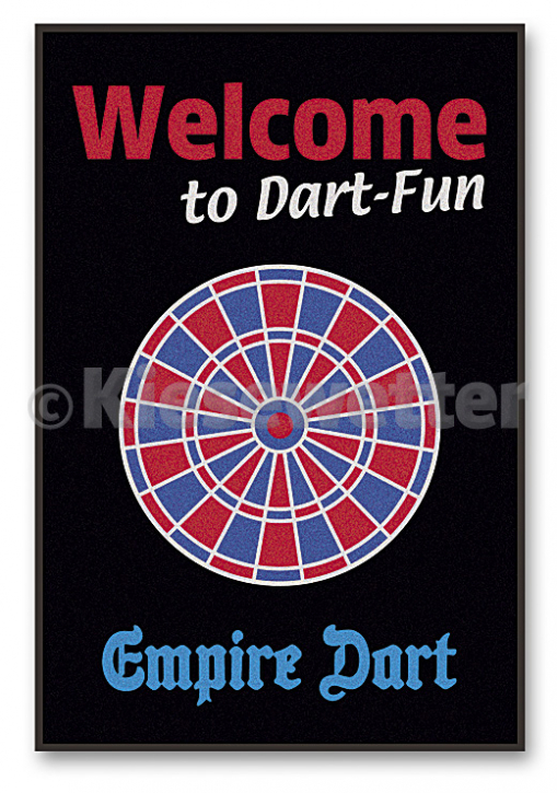 "Schmutzfang-Matte ""Welcome to Dart Fun"" (Artnr. 21919)"