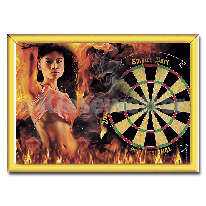 Dart-Poster Dart Lady on fire, DIN A2 (Artnr. 22245)