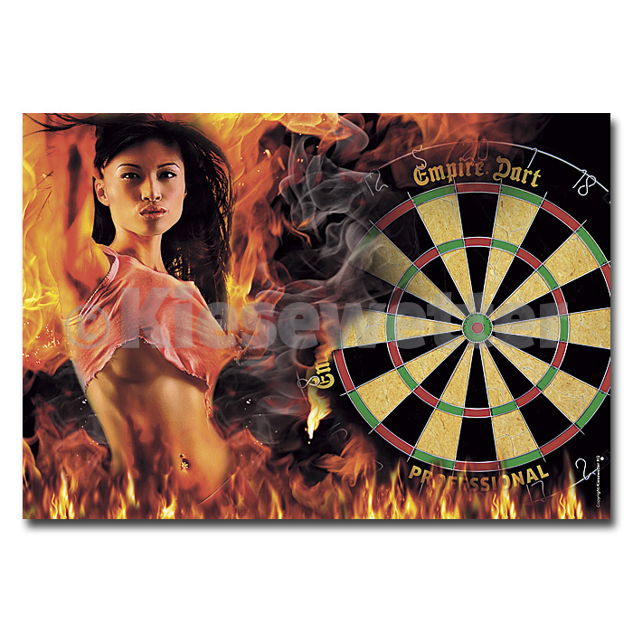 "Dart-Poster ""Dart Lady on fire"" DIN A1 (Artnr. 22247)"