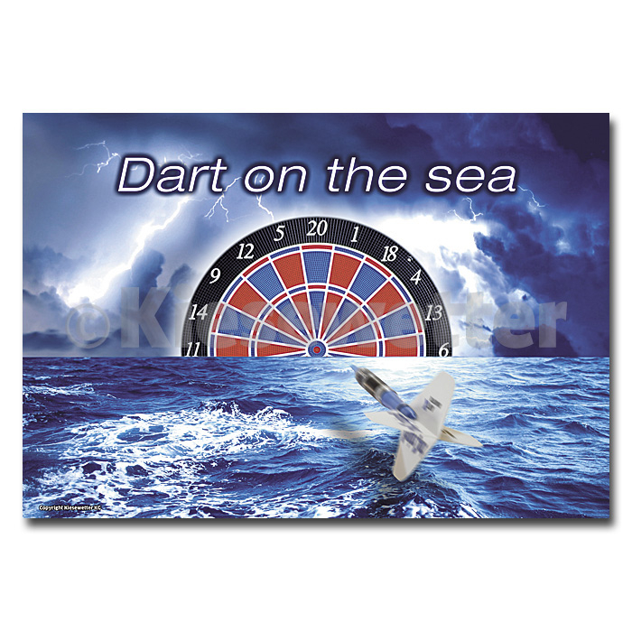 "Dart-Poster ""Dart on the sea"" DIN A1 (Artnr. 22248)"