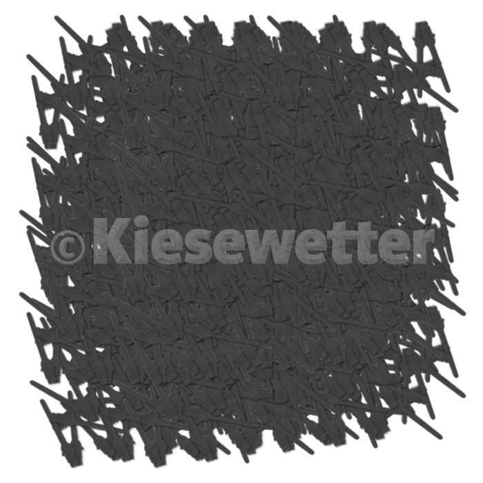 "Key-Point-Spitzen 1/4"" lang Schwarz"