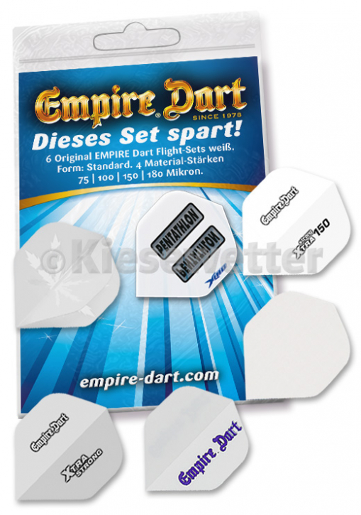 Test-Set 2: Empire Dart Flight-Materialstärke Form Standard