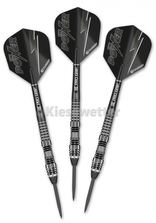Steel Dart-Set Power 8Zero Gen4 Black Titanium Barrel 23 g Phil Taylor