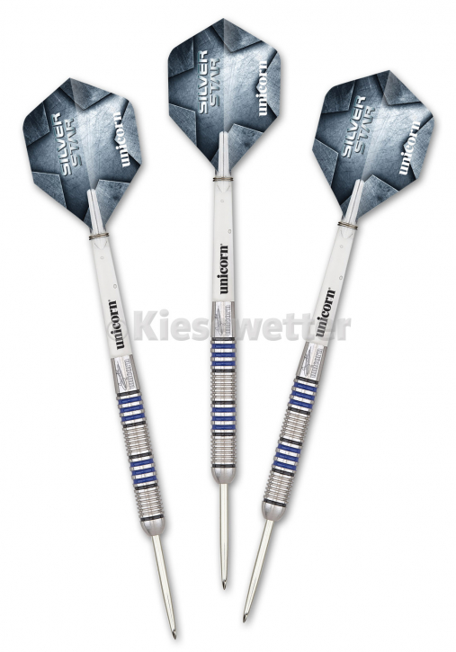 Steel Dart-Set Silver Star Phase 4 Barrel 23 g Gary Anderson (Artnr. 23205)