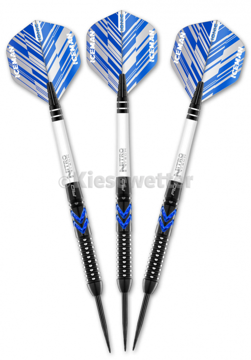 Steel Dart-Set Blue Ice Barrel 24 g Sonderedition 2021 Gerwyn Price (Artnr. 23260)