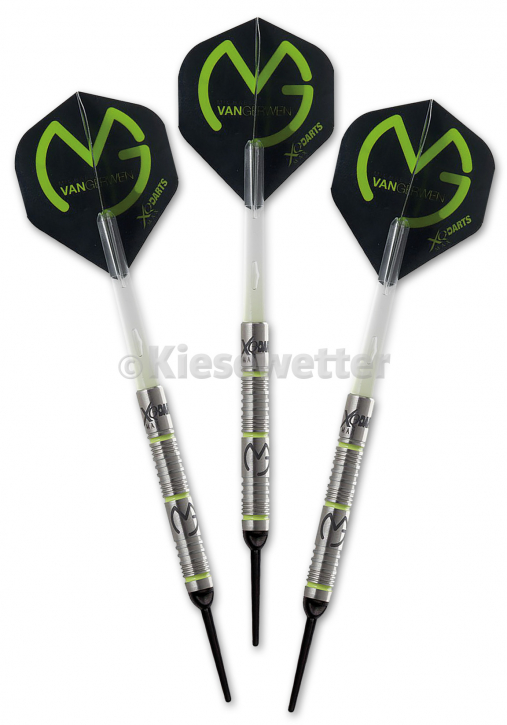 Dart-Set Green Demolisher Soft 18g Michael van Gerwen (Artnr. 23774)