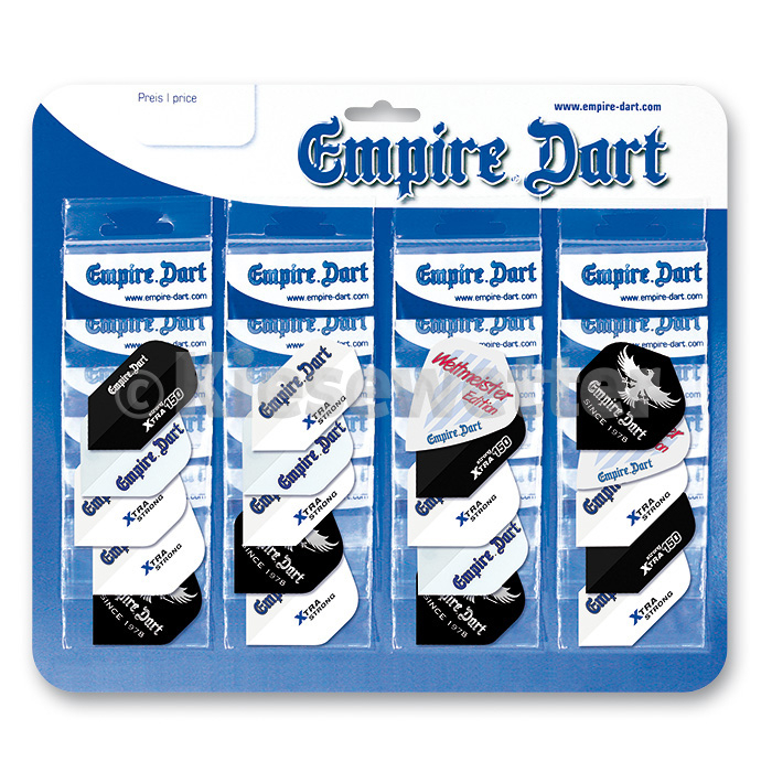 Flight-Display Empire Dart Standard /Slim 3 Materialien und 3 Formen sortiert (Artnr. 25051)