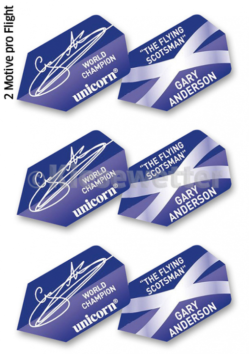 Flight-Set Polyester extra strong Slim Gary Anderson (Artnr. 26181)