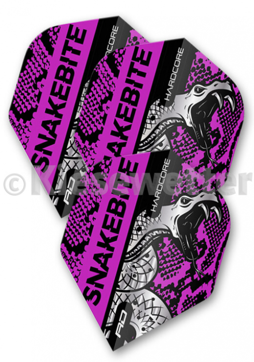 Flight-Set Polyester extra strong Hardcore Standard Snakebite Purple Peter Wright