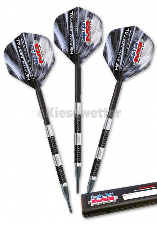 Dart-Set ED M3 HM Black 18g Heavy Metal soft Black (Artnr. 29207)