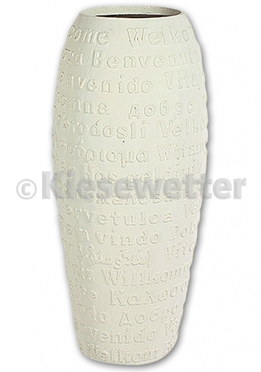 Design-Vase »Welcome« (Artnr. 30360M)