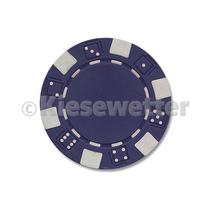 Poker Chip Dice Blau (Artnr. 35202)