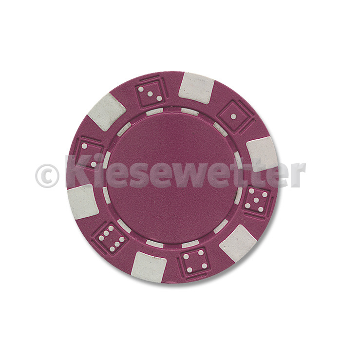 Poker Chip Dice Bordeaux (Artnr. 35208)