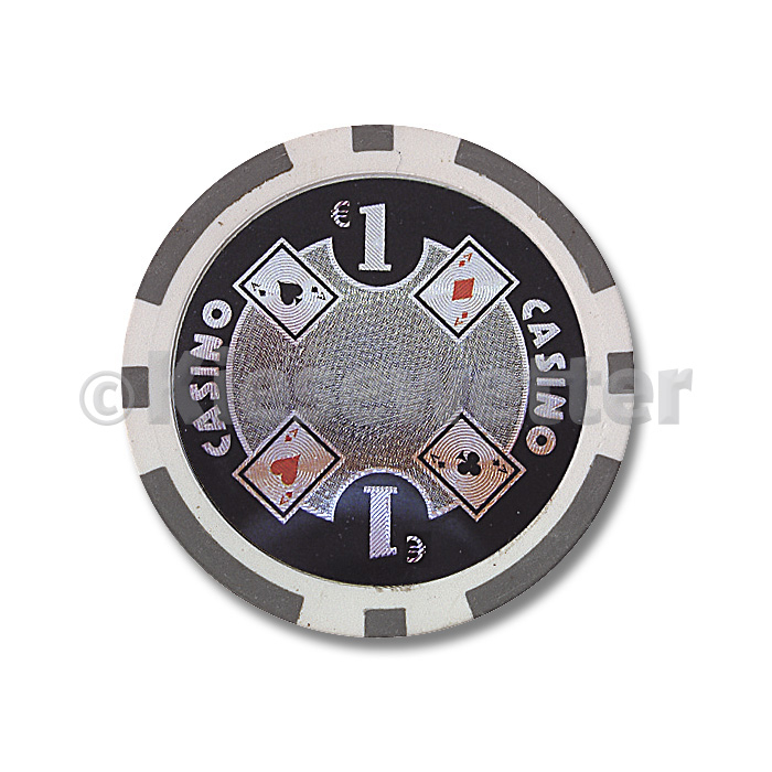 Poker Chip Casino Wert 1 (Artnr. 35210)
