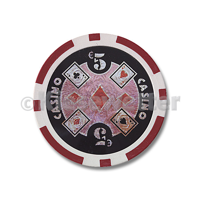 Poker Chip Casino Wert 5 (Artnr. 35211)