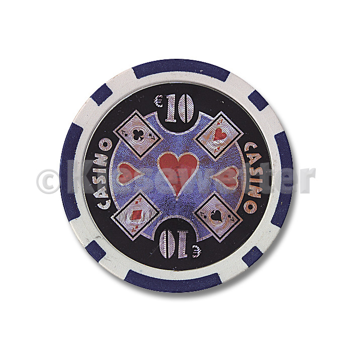 Poker Chip Casino Wert 10 (Artnr. 35212)