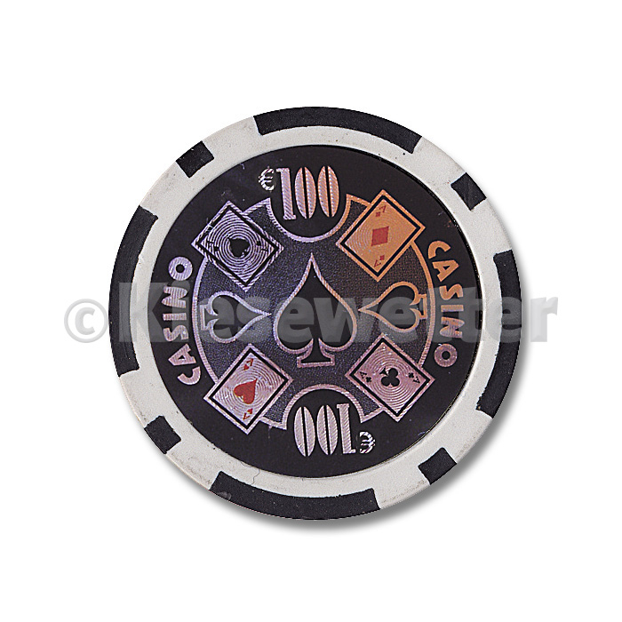 Poker Chip Casino Wert 100 (Artnr. 35215)