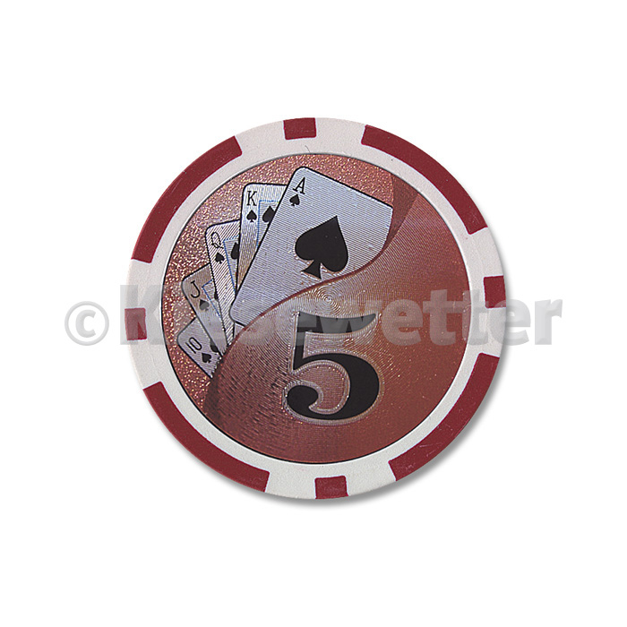 Poker Chip Flush Wert 5 (Artnr. 35221)