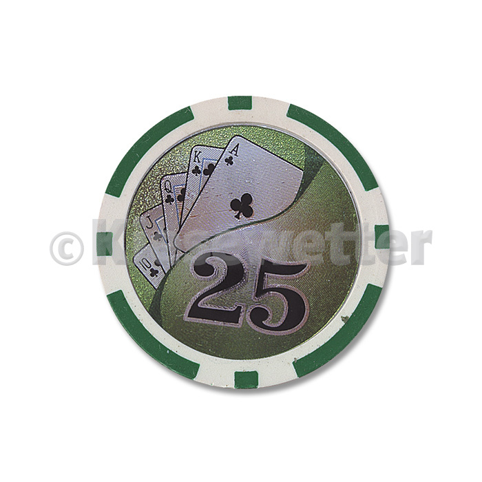 Poker Chip Flush Wert 25 (Artnr. 35223)