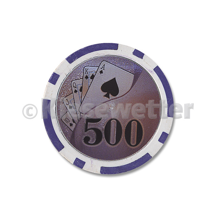 Poker Chip Flush Wert 500 (Artnr. 35226)