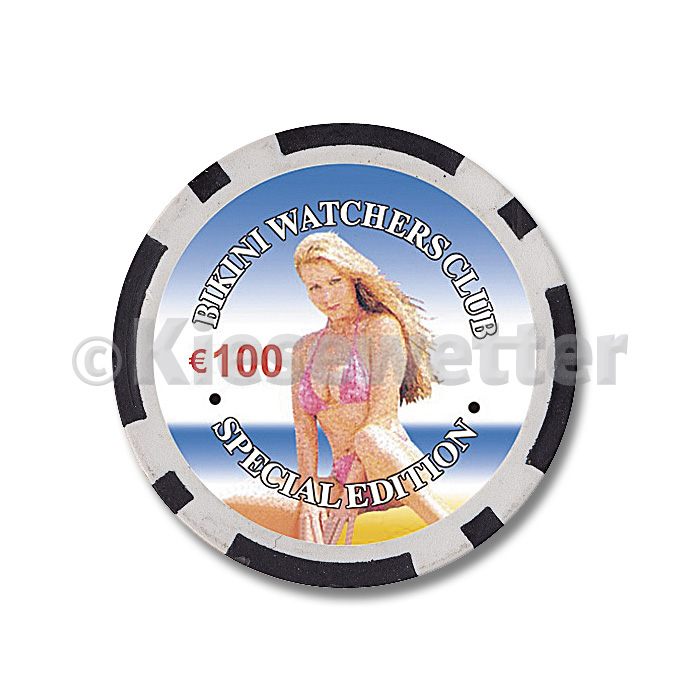 Poker Chip Bikini Watchers Wert 100 (Artnr. 35235)