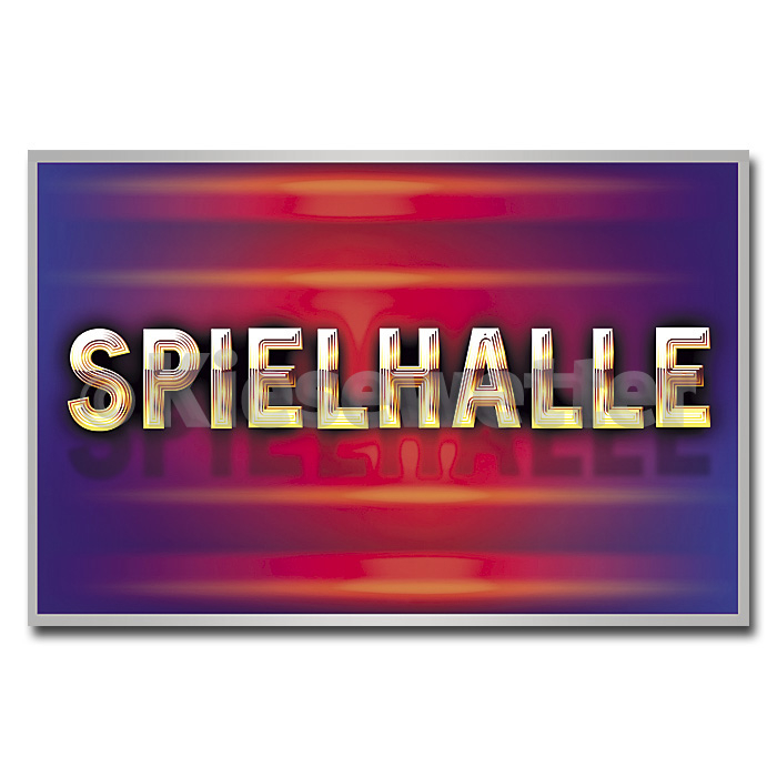 LED Leucht-Display Motiv Spielhalle