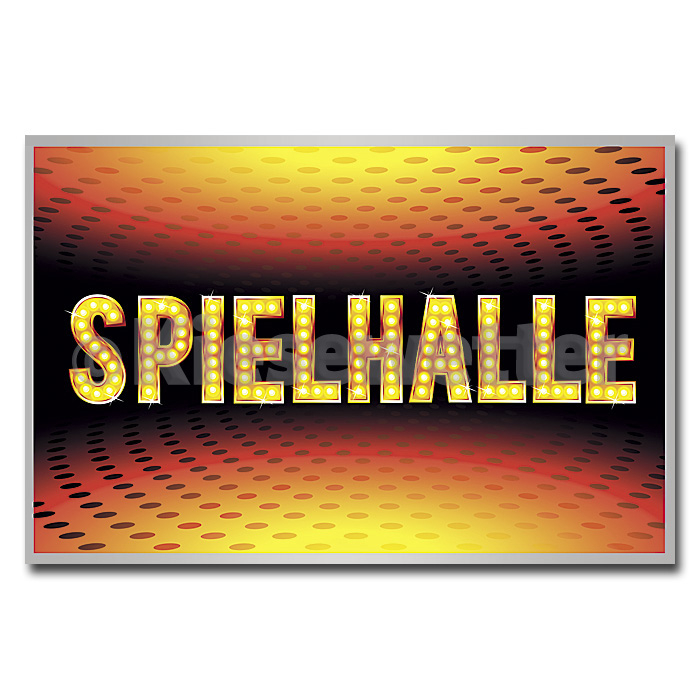 LED Leucht-Display Motiv Spielhalle (Artnr. 38523)