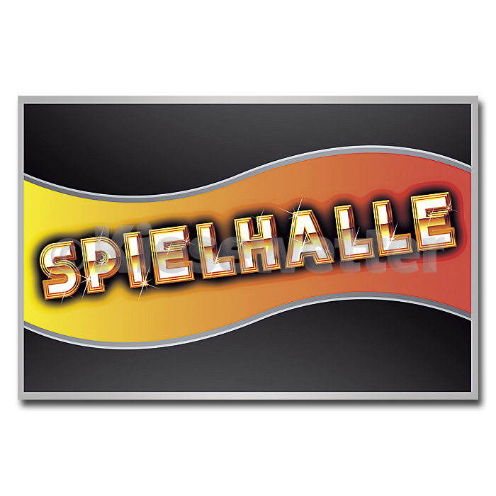 LED Leucht-Display Motiv Spielhalle (Artnr. 38527)