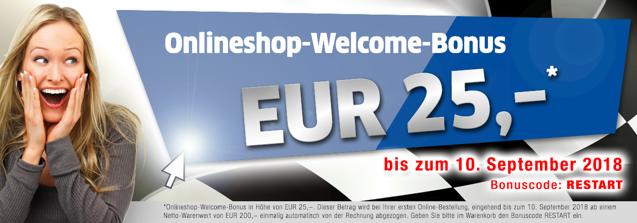 Onlineshop-Welcome-Bonus 25 €